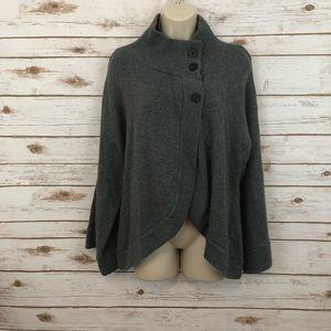 🆕 CALVIN KLEIN Gray Poncho Sweater Cardigan